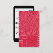Red Mock Leather iPhone Style Business Card