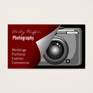 red Mod Photoraphy, camera Business Card