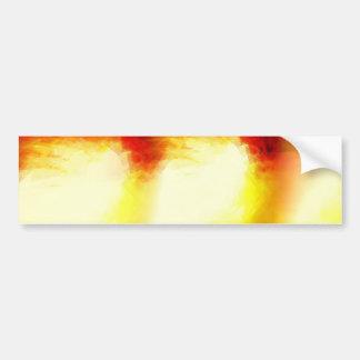 Red Modern Abstract Art Bumper Sticker