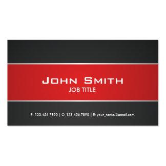 Red Modern Elegant Professional Classy Business Card