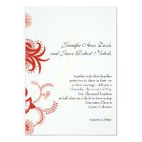 Red Modern Floral Wedding Invitation (<em>$2.59</em>)