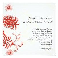 Red Modern Floral Wedding Invitation (<em>$2.79</em>)
