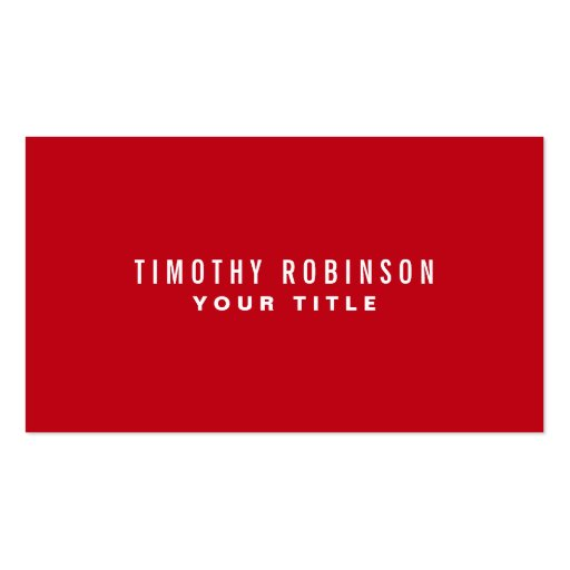 Red modern generic simple masculine personal business card templates