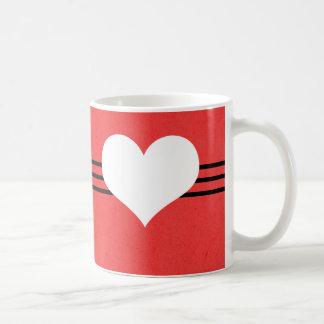 Red Modern Heart Mug