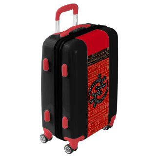 Red Modern Mudcloth Luggage