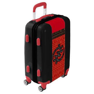 Red Modern Mudcloth Luggage
