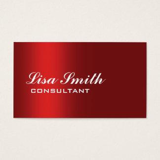 Red Modern Professional Elegant Simple Plain Business Card
