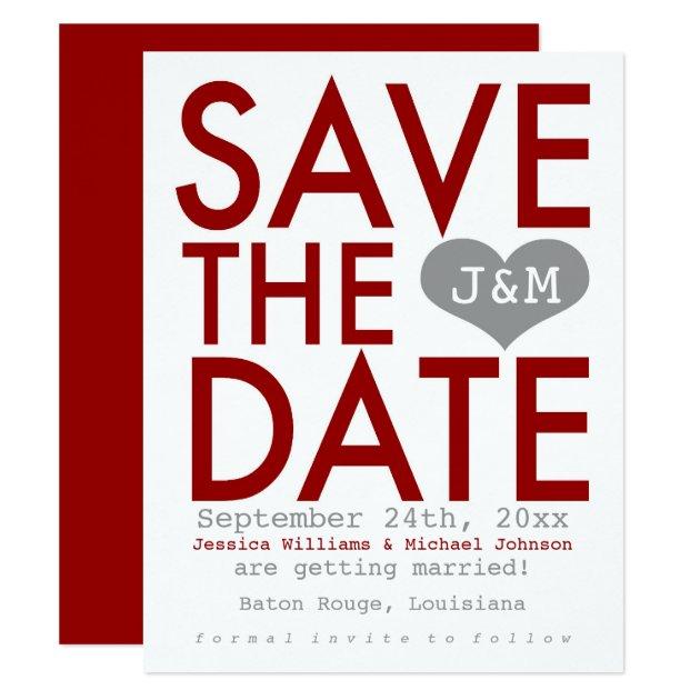 modern save the date card zazzle