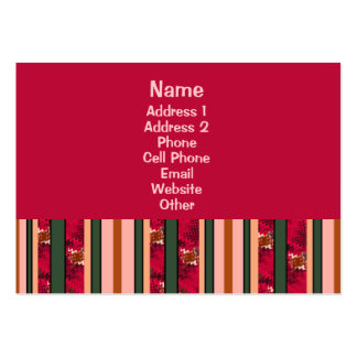 Red Modern Stripes Business Card