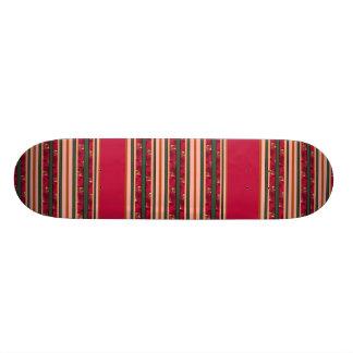 red modern stripes custom skateboard