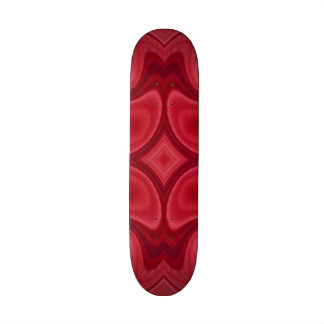 Red modern stylish pattern skateboard deck