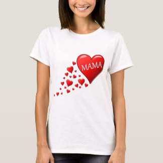 Red Mom Hearts T-Shirt