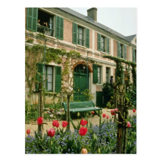 Red Monet's house and garden, Giverny, northern Fr Postcard