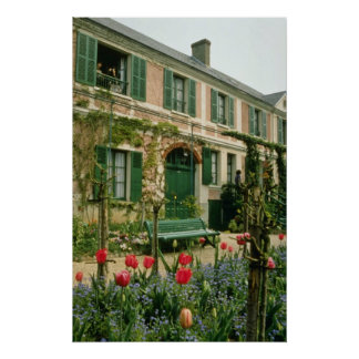 Red Monet's house and garden, Giverny, northern Fr Poster