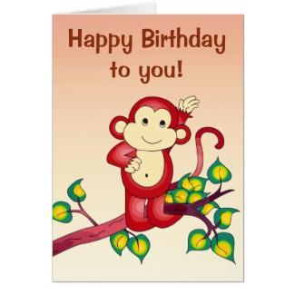 Red Monkey Animal Birthday