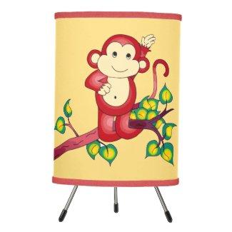 Red Monkey Animal Lamp