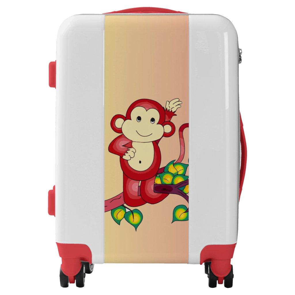 Red Monkey Animal Luggage