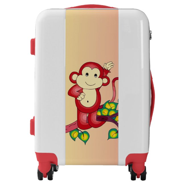 Red Monkey Animal Luggage