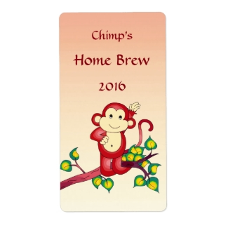Red Monkey Beer Labels