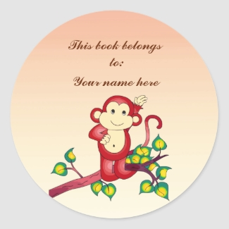 Red Monkey Bookplate