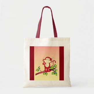 Red Monkey Budget Tote Bag