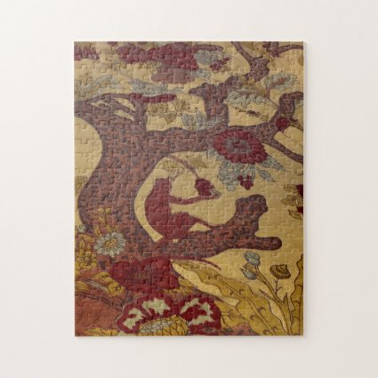 Red Monkey in Tree with Flowers Puzzle