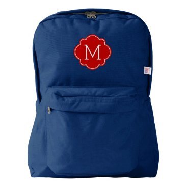 heartlocked Red Monogram American Apparel™ Backpack