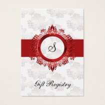 red monogram  Gift registry  Cards