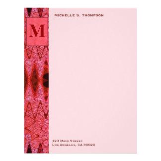 red monogram letterhead
