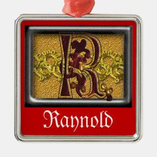 red monogram R Metal Ornament