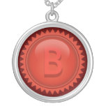 Red Monogram Seal necklace