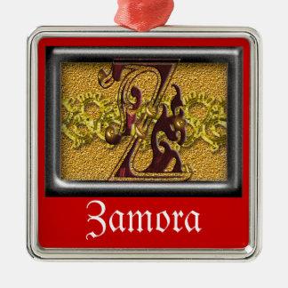red monogram Z Metal Ornament