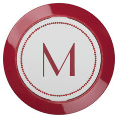 Red Monogrammed Charging Hub at Zazzle