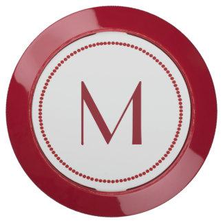 Red Monogrammed Charging Hub