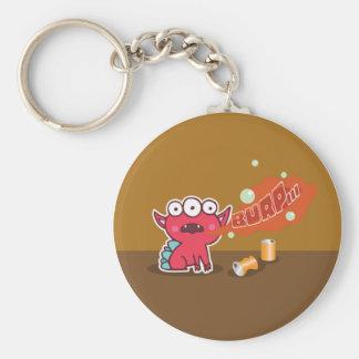 Red Monster Burp Keychain