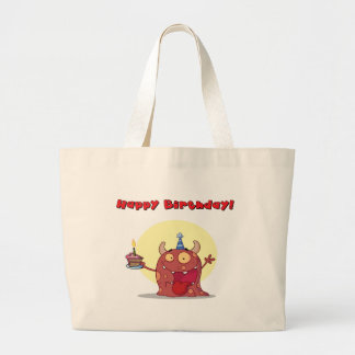 Red Monster Celebrates Birthday With Cake Bags