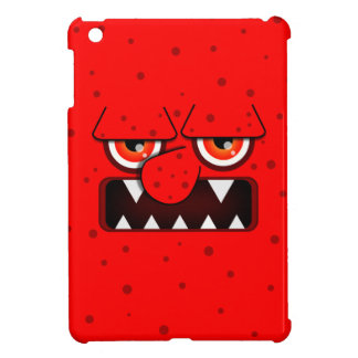 Red Monster Face, Big Nose Sharp Fangs Cover For The iPad Mini