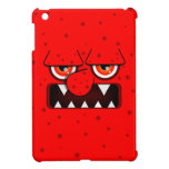 Red Monster Face, Big Nose Sharp Fangs Case For The iPad Mini