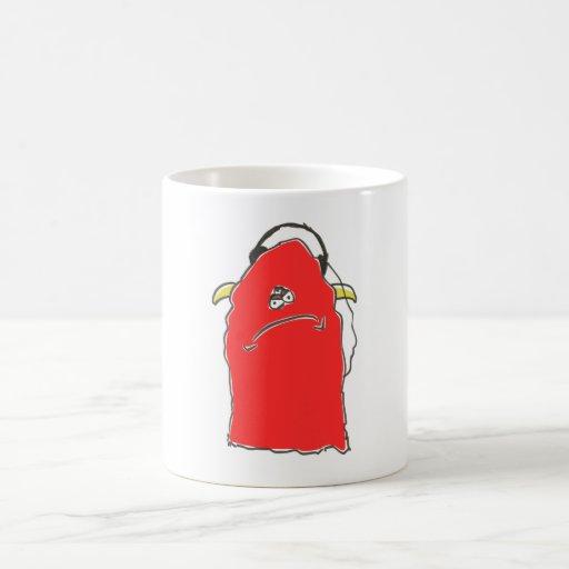 red monster headphones coffee mug