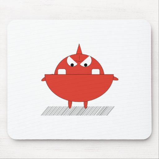 Red monster mouse pad