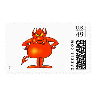 Red Monster Stamp
