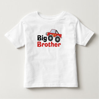 Red Monster Truck Big Brother Toddler T-shirt
