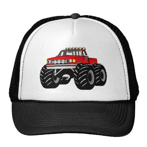 RED MONSTER TRUCK MESH HATS
