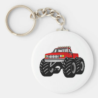 RED MONSTER TRUCK KEY CHAINS