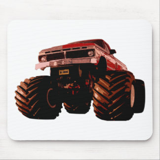 Red Monster Truck Mouse Pad