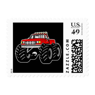 RED MONSTER TRUCK STAMP