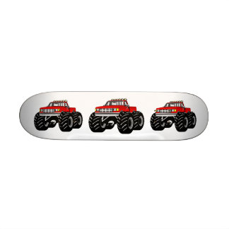 RED MONSTER TRUCK SKATEBOARD DECK