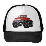 RED MONSTER TRUCK TRUCKER HAT