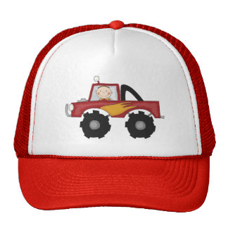 Red Monster Truck Tshirts and Gifts Trucker Hat