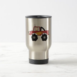 Red Monster Truck Tshirts and Gifts 15 Oz Stainless Steel Travel Mug